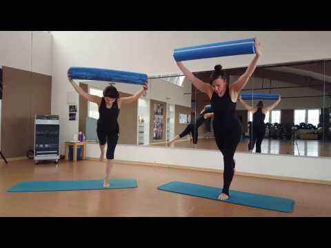 Pilates Training Rolle intensiv core