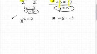 How to Solve Basic Equations (first step to understand algebra)