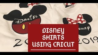 How To Make A Disney Shirt Using Cricut Maker