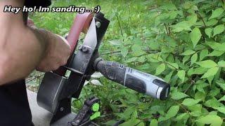 Metal Working Belt Sander Attachment To Dremel Rotary Tool Workstation Part 1