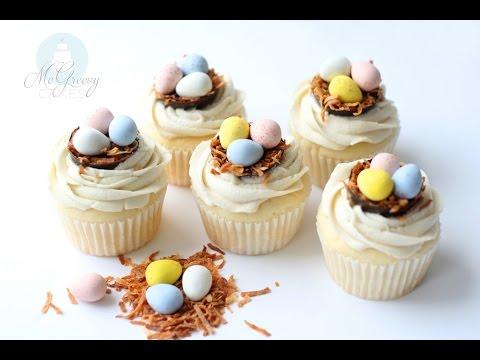 Video Making SUPER easy, Easter Egg Cupcakes!