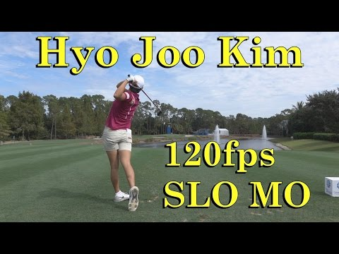 HYO JOO KIM 120fps SLOW MOTION DTL FAIRWAY WOOD GOLF SWING