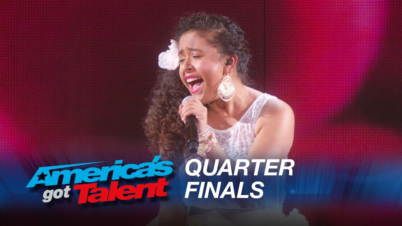 Alondra Santos: 13-Year-Old Spanish Singer Performs Classic Selena Hit – America's Got Talent 2015 #AGT