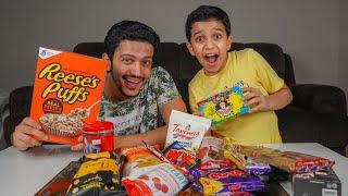 تجربة أغرب الحلويات 🍬😍