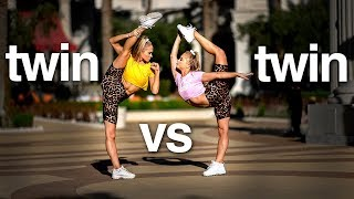 Twin vs Twin 10 Minute Acro Challenge in Vegas *Rybka Twins*