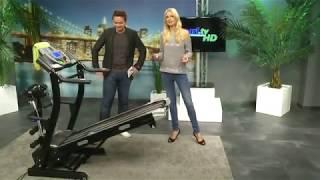newgen medicals Profi-Laufband mit Fitness-Station und Bandmassage