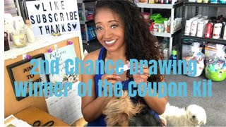 2nd Chance Drawing Winner of The Coupon Kit Giveaway