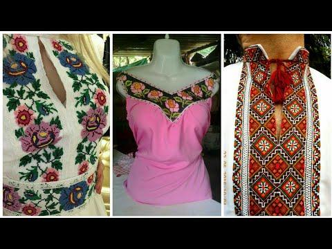 Cross Stitch Neckline Embroidery Designs    amber beauty fashion