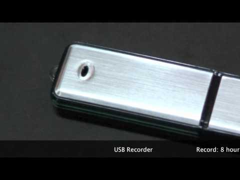 Memoria espía USB para grabar conversaciones