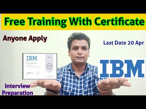 IBM Free 5 Weeks Training With Certificate | IBM interview ...