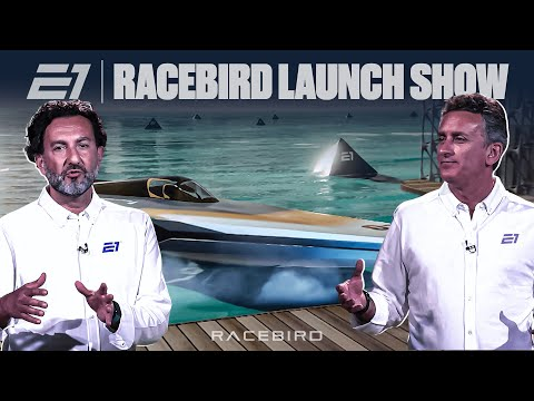 E1 Series new RaceBird powerboat design reveal   FULL LAUNCH SHOW   Alejandro Agag, Rodi Basso