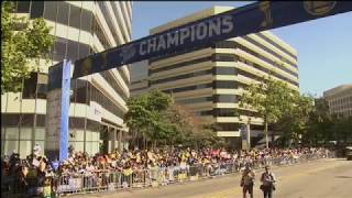 NBA Champion Golden State Warriors victory parade in Oakland