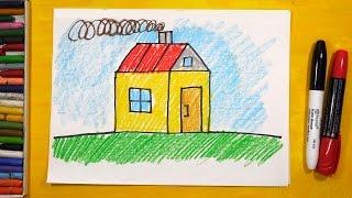 Смотреть онлайн Урок рисования картинки для детей 3-4 лет