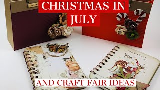 Crafting My Christmas In July Haul ***CRAFT FAIR IDEAS