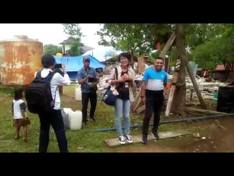 Kunjungan Pengungsi  di Desa Liang