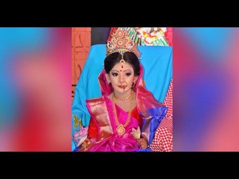 নারায়ণগঞ্জে করোনা পরিস্থিতিতে সীমিত পরিসরে কুমারী পূজা অনুষ্ঠিত || pressnarayanganj