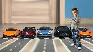 The cars made the race while Mark was sleep. Video for kids.