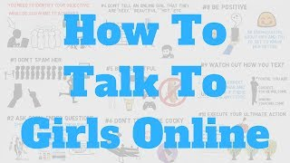 How To Talk To A Girl Online