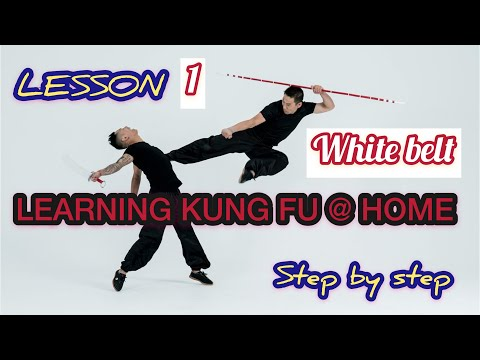 learning kung fu at home / lesson 1 , step by step