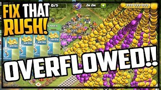 OVERFLOWED! Gem, Farm, Max, Fix That Rush in Clash of Clans!