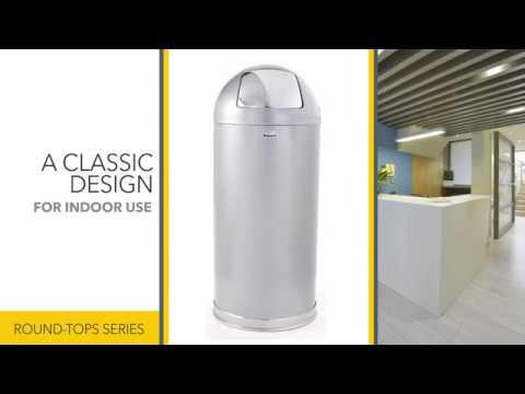 Декоративная урна серии EasyPush 56 литров FGR1536SSSGL