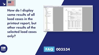 FAQ 003534 | How do I display some results of all load cases in the printout report, but other results of the selected load cases only?