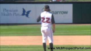 Blue Jays RHP Daniel Webb strikes out Reds SS Billy Hamilton - Midwest League 2011