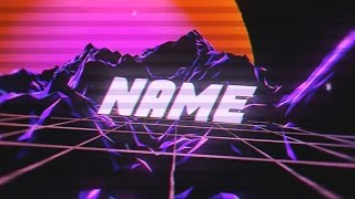 FREE Vaporwave Intro Template #993 Blender + Tutorial