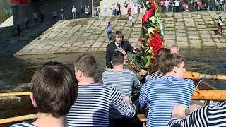 Ранним утром стартовали первые праздничные мероприятия в Великом Новгороде