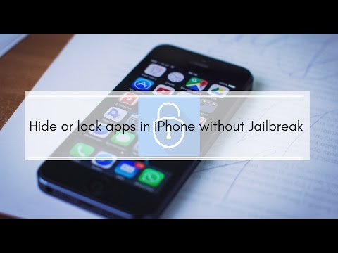 Hide or lock WhatsApp, Messages or other apps in iPhone without Jailbreak