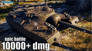 T95 бой на 10000+ dmg 🌟 World of Tanks американская пт- сау 9 уровня
