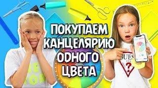 ПОКУПАЕМ Школьную Канцелярию ОДНОГО ЦВЕТА / Челлендж / Back to school