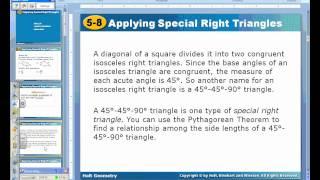 Geom HP 5.8 Notes (45, 45, 90) Part 1.wmv