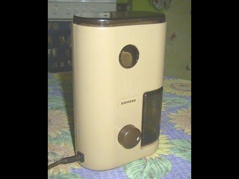 TEST-Funktionsprüfung  Elektrische Kaffeemühle Siemens , Coffee grinder