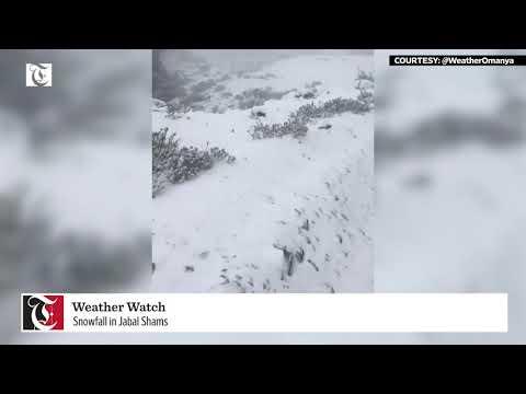 Watch: Snowfall in Jabal Shams
