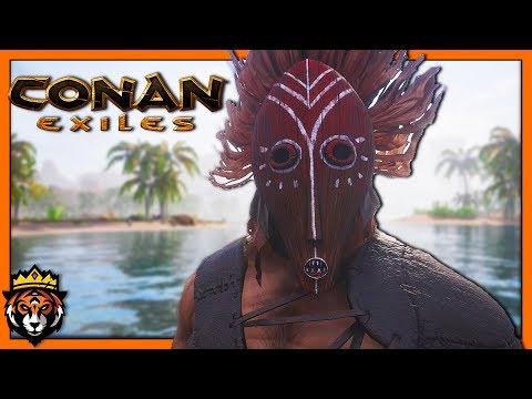 Finishing Home Base, Finding Dope Armor & Giant Spiders! (Conan Exiles Gameplay) #2
