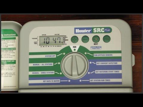 How To Program A Hunter SRC Plus Sprinkler Timer