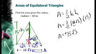 Area Of Squares, Equilateral Triangles And Regular Hexagons