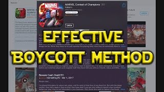 Effective Boycott Method For Mobile Games