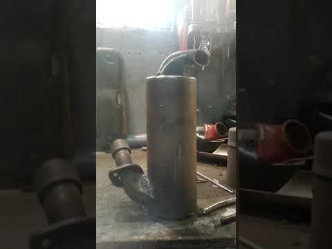 Irbis dingo 125 ремонт глушителя  ирбис динго 125 снегоход