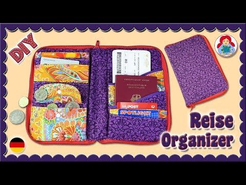 DIY   Reise Organizer Dokumente Etui • Sami Dolls Tutorials