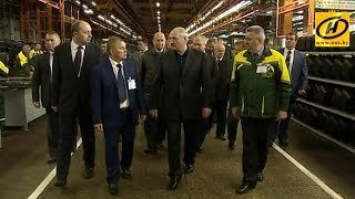 Александр Лукашенко посетил Минский тракторный завод