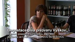 Degustace piv z produkce pivovaru Vyškov