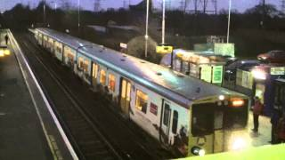preview picture of video 'Half an Hour at (5) - Capenhurst Station 29.1.2014 - Merseyrail Class 507 & 508'