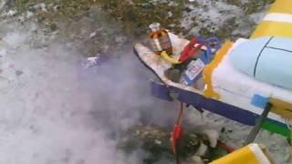 Краш и пожар RC самолета
