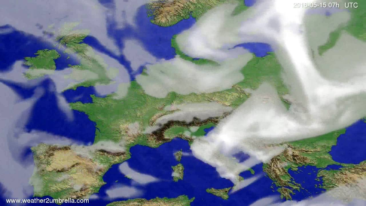 Cloud forecast Europe 2016-05-11