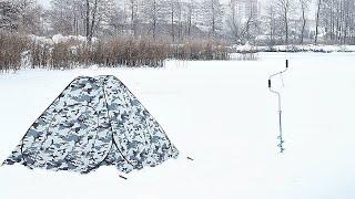 Ловля плотвы в палатке зимой