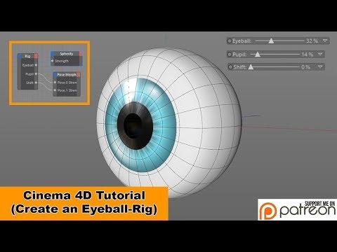 Create an Eyeball-Rig (Cinema 4D Tutorial)