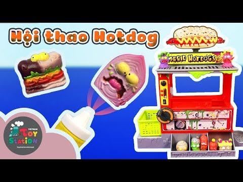 Grossery Gang - Máy bán xúc xích Horrid Hotdogs Machine và hội thao xúc xich rất lầy - ToyStation 89