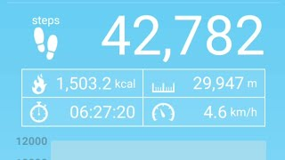 Best fitness and Step Counting Android App | Pedometer | Accurate Results